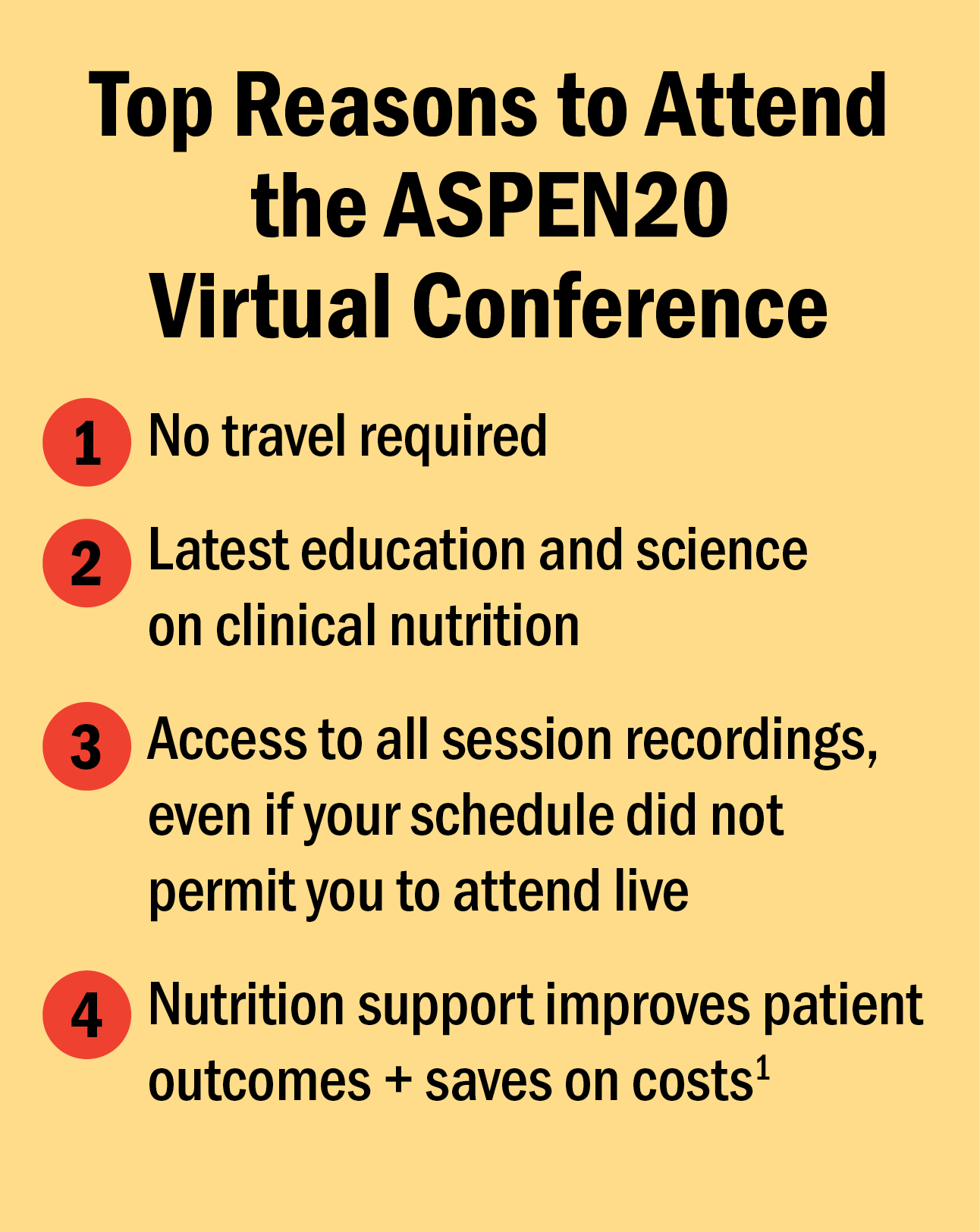 Top Reasons to Attend ASPEN20