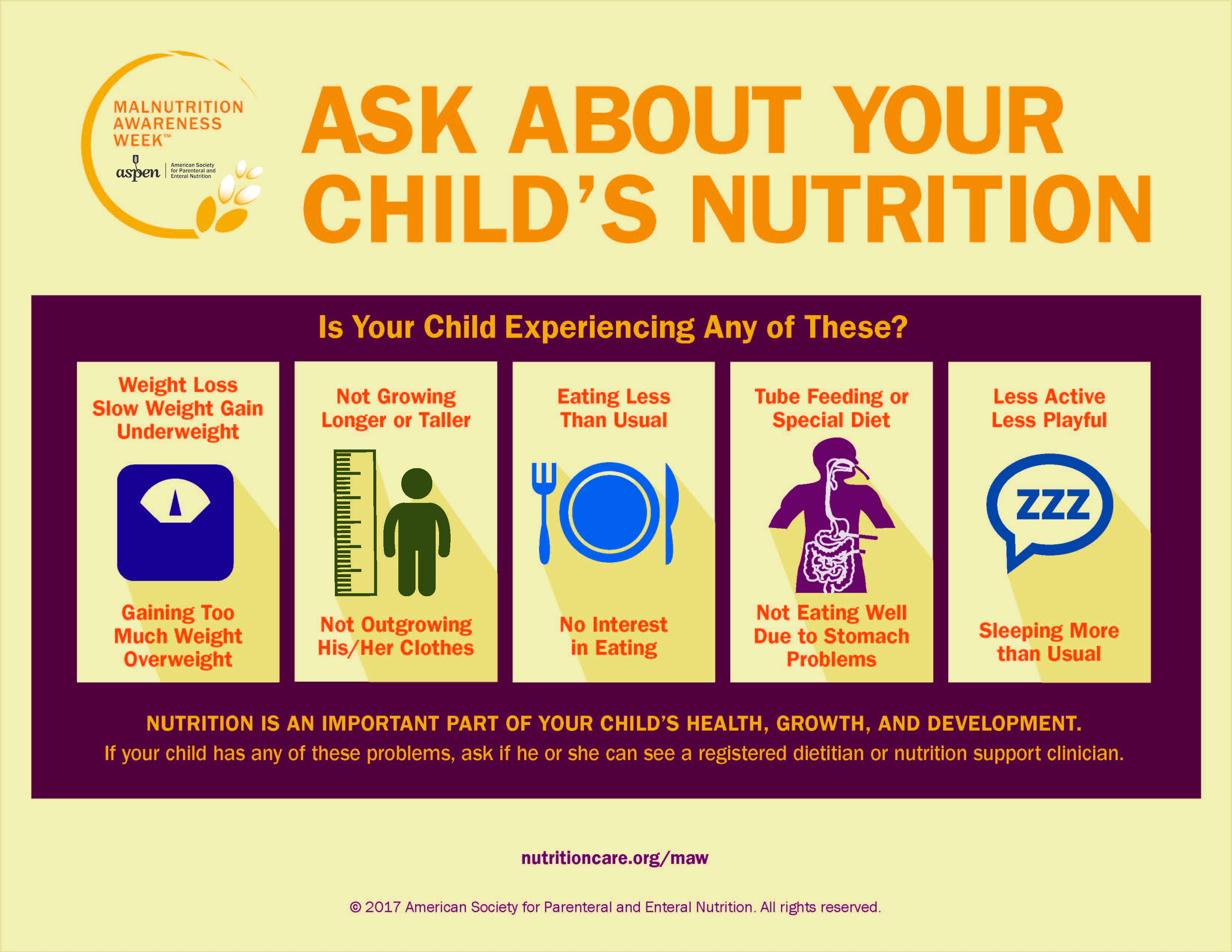 2016 Ask About Your Childs Nutrition Poster - Branded