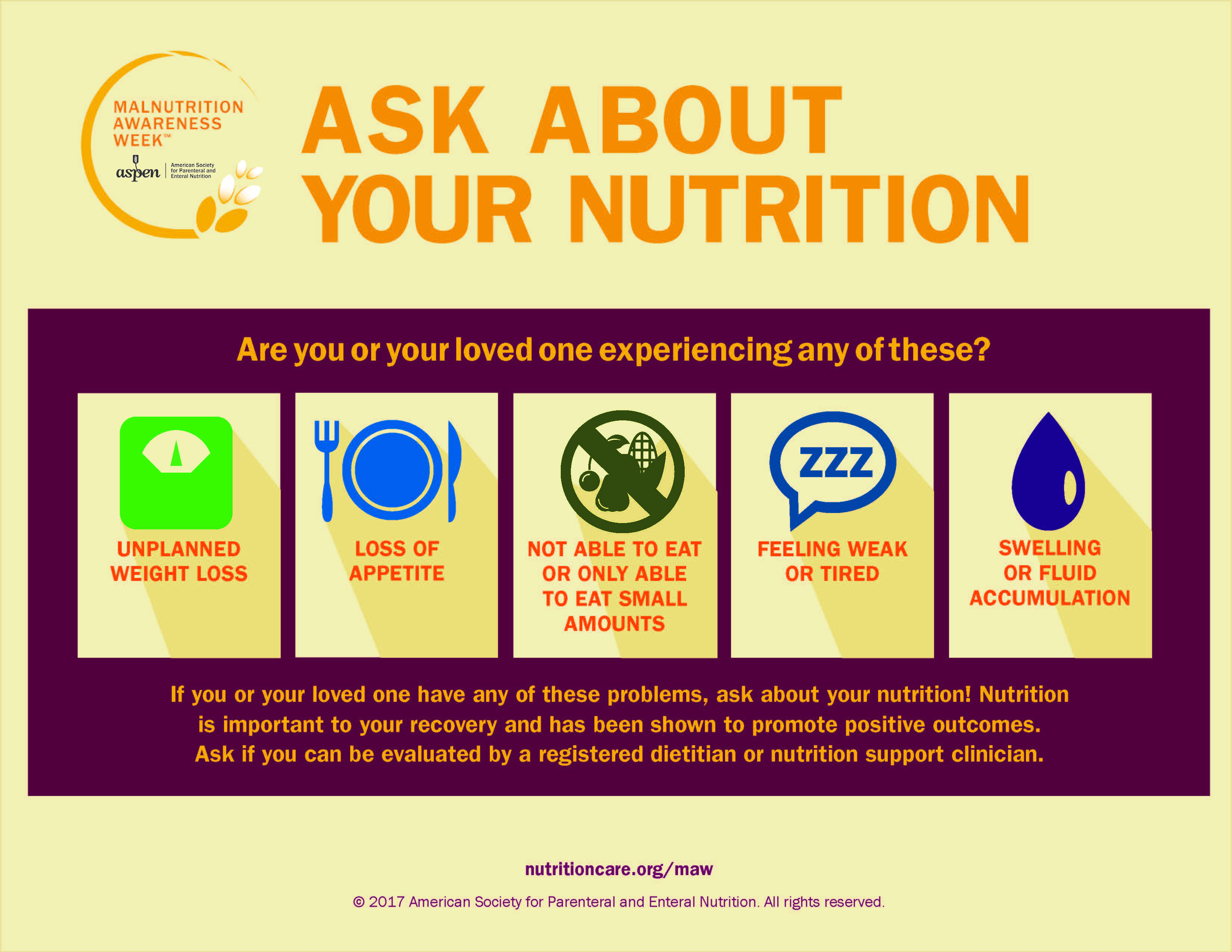 2016 Ask About Your Nutrition Poster - Branded