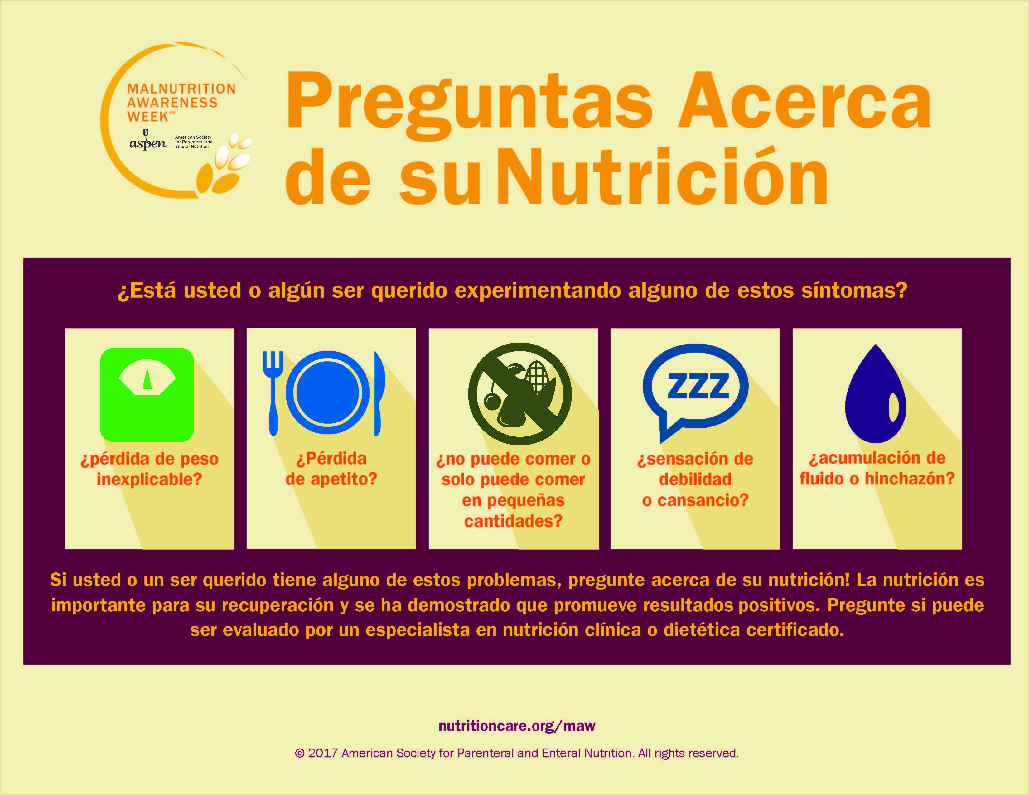 2016 Ask About Your Nutrition Spanish
